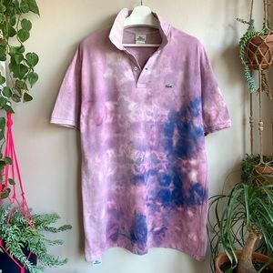 Lacoste Bleached & Modified distressed polo GUC